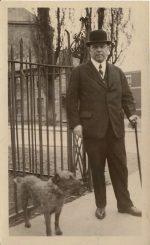 McKenzie-King and his faithful dog, Pat.